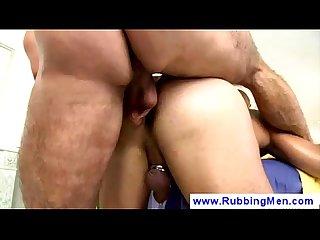 Pierced Masseur enjoys rough Sex
