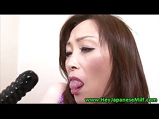 Asian wanker loves her toys and pussies when alone