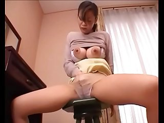 jap big tits wife masturbating