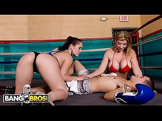 BANGBROS - Sara Jay & Kristina Rose Revive Fallen Boxer On Ass Parade #TBT