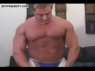Sky Woods Big Beefy Guy Teasing Thongs & Ass