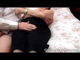 Cute granny fucking her doctor