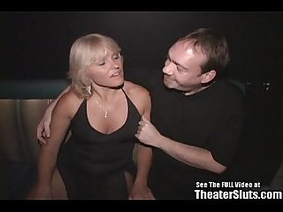 Wild anal milf theater gang bang
