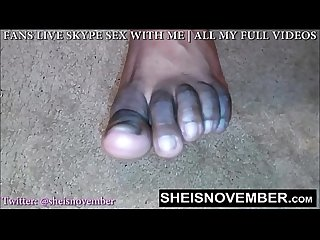 Foot fetish slut strokes your cock with feet while dirty talking you femdom pov