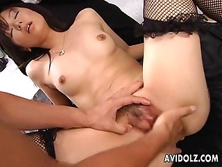 Japanese babe satomi maeno fucked by a group period