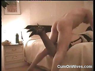 Busty amateur maid gets a cumshot
