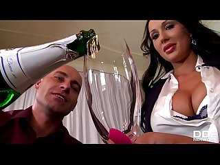 Celebration at office makes boss bang busty babes Patty Michova & Kyra Hot