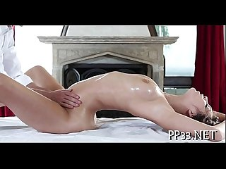 Pleasuring hottie with oil massage