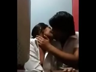 Engineering college student hot Romance in cs lab swallows