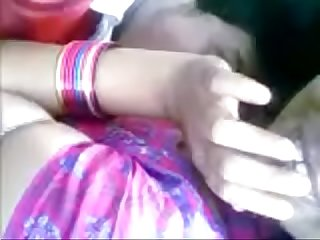 Desi girl diya boobs sucked at public place