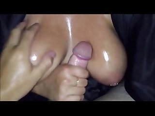 Cumming on a BBW's Big Breasts POV