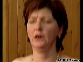 Dirty mature woman going crazy getting