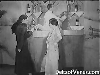 Vintage porn from The 1930s Girl Girl guy threesome