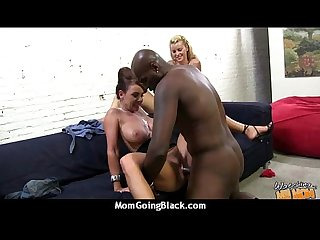 Hot milf mom make A Blowjob and ride A big black cock Interracial 25