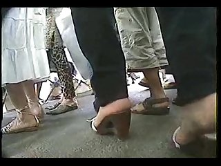 Sexy shoe walking sounds arab feet
