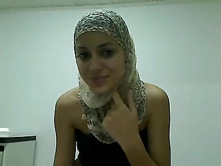 Slim Little Arab teen plays for Me on camera at exposedcams period cf
