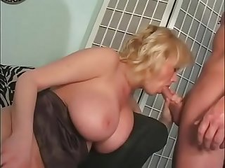 Blonde milf takes a cock 2
