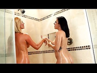 Keisha & Tasha Wet Anal Lesbian Play In the Shower - RedFoxPorn.com
