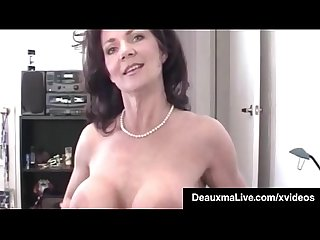 Horny cougar deauxma pov mouth fucks a guy gets a cum bomb