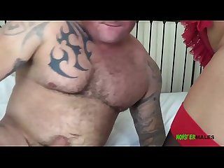 Big tits blonde British Milf Michelle Thorne smokes and sucks tattooed stud Seth Strongs big dick..