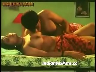South Indian Mallu Bhabhi getting her boobs sucked by servant New