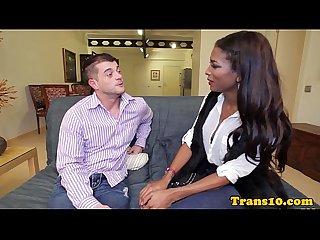 Ebony tgirl doggystyled for cash
