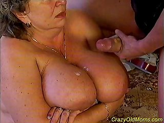Crazy old mom fucked hard sex