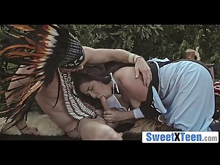 Big Tit Amish Teen Karlee Grey Sucks Native American's Cock