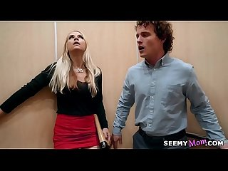 My boss' angry wife Sarah Vandella fucks me in the elevator