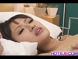 Hot Saori gets it hard in lots of poses and receives a big creampie - More at hotajp com