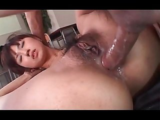 Japanese hardcore anal sex and creampie in close up