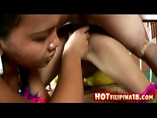 Two filipina girls give blowjob