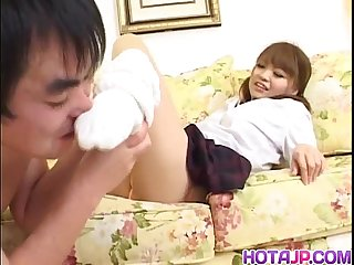 Pigtailed teen nailed by horny hunk