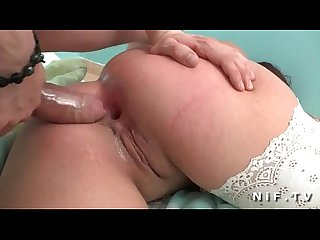 Young redhead slut in white panties hard anal pounded