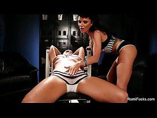 Romi rain S lesbian gym
