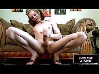 Tattooed bigcock femboi beauty wanking solo