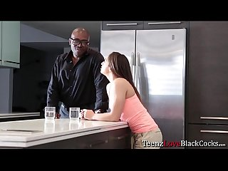 Teen babe sarah luvv going for her neighbors big black cock