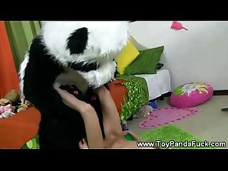 Cheeky toypanda porno cuddling with teen girl
