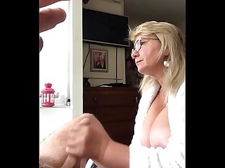 Blowjob and swallow Mature Galina