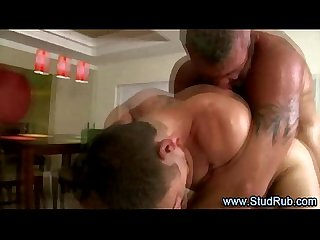 Gay masseur assfucks his straight client to orgasm