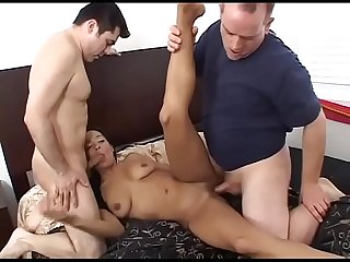 Black brazilian milf slammed by A white Young boy 3