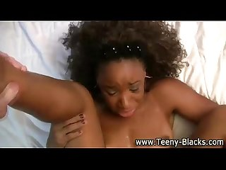 Horny black teen bitch gets fucked