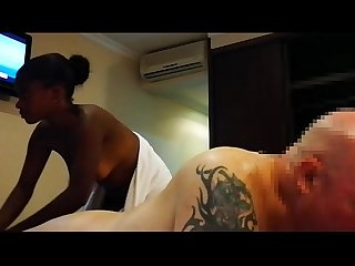 MASSAGE FUCK FROM YOUNG EBONY MILF