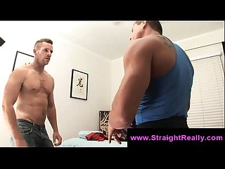 Straight guy gets naked to get massaged by a gay masseur