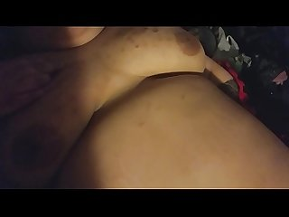 Groping my sleeping bbw girlfriends tits and pussy while she's sleeping