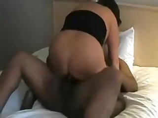 Fat Black man fucks White Granny bbw and she gets facial