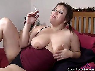 Smoking Blowjob Condom Sperm Eating - ALHANA WINTER - Bonus New Video