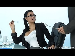 Sexy Milf Jasmine Jae plays the office slut addicted to hard cock