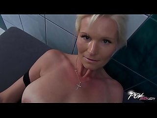 Povbitch busty milf cleaning lady was bad punished hard with big cock