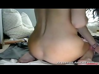 Teen doll intense orgasm and squirting while toying her Ass